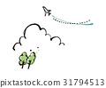 airplane, plane, summer 31794513