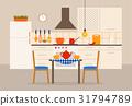 kitchen, vector, illustration 31794789