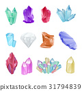 Vector set of crystals, gems and diamonds 31794839