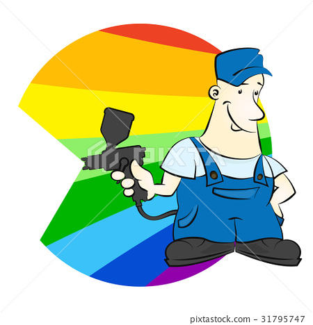Painter with spray vector 31795747