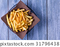Potatoes chip, French Fries Background, Close Up 31796438