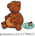 little bear cartoon character 31798422