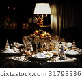A decorated christmas dining table 31798536