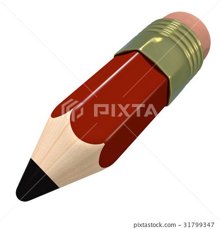 Cute cartoon pencil 31799347
