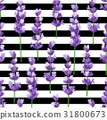 Seamless pattern of provence violet lavender  31800673