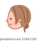 一个闭着眼睛的女人的脸 31801195