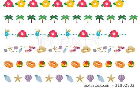 装饰线 南国 热带 31802532