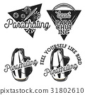 Vintage parachuting emblems 31802610