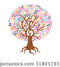 Music note tree concept nature care illustration 31803193