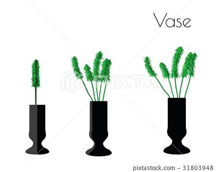 Vase silhouette on white background 31803948