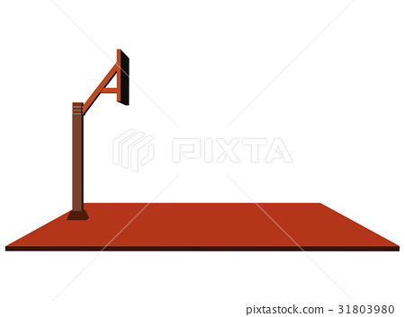 basketball hoop on white background 31803980