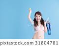수영복의 여자 블루 백 31804781