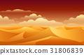 Sahara sand dunes panorama 31806839
