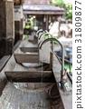 Vintage wooden wash basin outdoor. 31809877