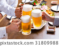A toast with draft beer 31809988