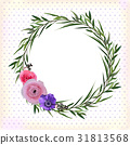 Flower circle round wreath flowers pink Rose 31813568