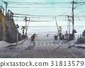 바다, 건널목, 그림자 31813579