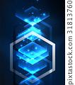 藍色 藍 六角形 31813760