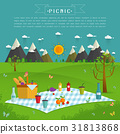 Outdoor picnic in Mountains 31813868