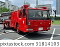 掛鉤和雲梯消防車 救火車 消防車 31814103