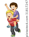 Kids Piggy Back Ride Boys 31817247