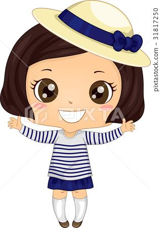 Girl Striped Breton Shirt 31817250