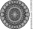 曼陀羅 裝飾 向量 31818643