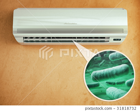 Air conditioner and bacterias llebsiella 31818732