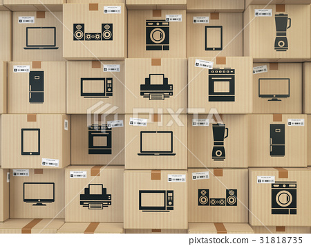 Household kitchen appliances and home electronics 31818735
