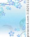 花【和風背景・シリーズ】 31820111