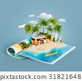Camper van on a sand beach 31821648