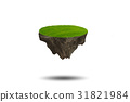Floating island in environmental concept - 3d 31821984