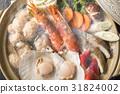 鍋裡煮好的食物 用鍋烹飪 日式料理 31824002