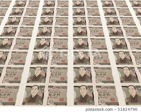 千元钞票 纸币 钞票 31824790