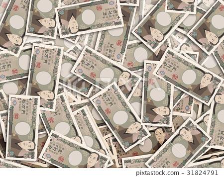 千元钞票 纸币 钞票 31824791