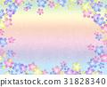 花柄の和紙【和風背景・シリーズ】 31828340