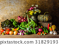 still life  Vegetables, Herbs and Fruit. 31829193