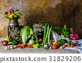 still life  Vegetables, Herbs and Fruit. 31829206