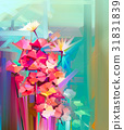 Abstract oil painting spring flower 31831839