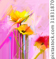 Abstract oil painting of spring flower. 31831870