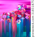 Abstract oil painting spring flower. 31831875