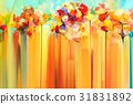 Abstract floral oil color painting 31831892