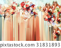 Abstract floral oil color painting 31831893
