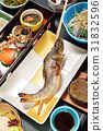 Grill Ayu fish japanese food. Japanese style.     31832596