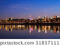 Panorama of Warsaw at night 31837111