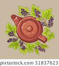 black currant tea in  teapot 31837623