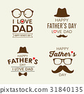 Happy Father day labels logo collections 31840135