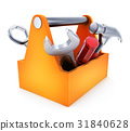 Toolbox symbol on white background 31840628