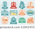 World landmarks flat icon set. Travel and Tourism 31842455