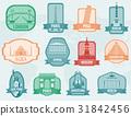 World landmarks flat icon set. Travel and Tourism 31842456